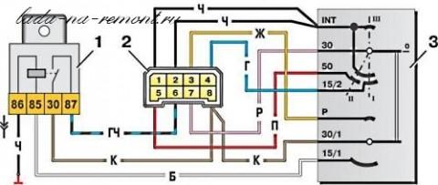 Замок зажигания ваз 2109 схема подключения проводов